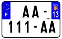 PLAQUE SIV MOTO & SCOOTER ALUMINIUM PREPERCE  210X130 (13) PLAQUEP21013