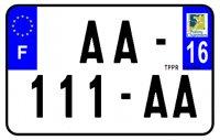 PLAQUE SIV MOTO & SCOOTER ALUMINIUM PREPERCE  210X130 (16) PLAQUEP21016
