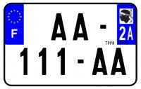 PLAQUE SIV MOTO & SCOOTER ALUMINIUM PREPERCE  210X130 (2A) PLAQUEP2102A