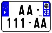 PLAQUE SIV MOTO & SCOOTER ALUMINIUM PREPERCE  210X130 (2B) PLAQUEP2102B