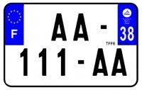 PLAQUE SIV MOTO & SCOOTER ALUMINIUM PREPERCE  210X130 (38) PLAQUEP21038