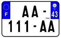 PLAQUE SIV MOTO & SCOOTER ALUMINIUM PREPERCE  210X130 (43) PLAQUEP21043