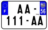 PLAQUE SIV MOTO & SCOOTER ALUMINIUM PREPERCE  210X130 (56) PLAQUEP21056