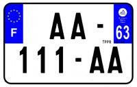 PLAQUE SIV MOTO & SCOOTER ALUMINIUM PREPERCE  210X130 (63) PLAQUEP21063