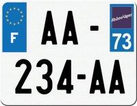 PLAQUE SIV MOTO & SCOOTER ALUMINIUM PREPERCE  210X130 (73) PLAQUEP21073