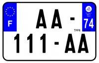 PLAQUE SIV MOTO & SCOOTER ALUMINIUM PREPERCE  210X130 (74) PLAQUEP21074