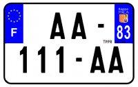 PLAQUE SIV MOTO & SCOOTER ALUMINIUM PREPERCE  210X130 (83) PLAQUEP21083