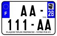 PLAQUE SIV MOTO & SCOOTER ALUMINIUM PREPERCE  210X140 PUB (2B) PLAQUEP210P2B