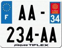 PLAQUE SIV MOTO & SCOOTER ALUMINIUM PREPERCE  210X140 PUB (34) PLAQUEP210P34