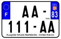 PLAQUE SIV MOTO & SCOOTER ALUMINIUM PREPERCE  210X140 PUB (83) PLAQUEP210P83