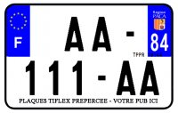 PLAQUE SIV MOTO & SCOOTER ALUMINIUM PREPERCE  210X140 PUB (84) PLAQUEP210P84