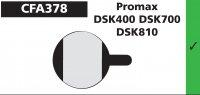 PLAQUETTES PROMAX DSK400 700 810 EBC PLAQVEBC378