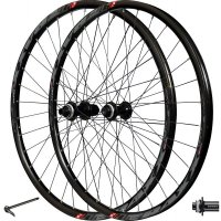 "PAIRE ROUES TRAXX TUBELESS READY 29"" - SHIMANO MT400 TX15/100mm TX12/142mm - K7 9/10/11 vitesses  622x21C CENTER LOCK  PR29TR02"