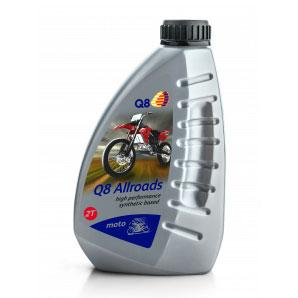 Q8 Oils 2T Semi Syntétique ALLROADS MOTO SCOOTER 1 Litre Q8ALLROADS