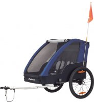 REMORQUE ENFANT 2 PLACES 20' GREY / BLUE POLISPORT REM86152