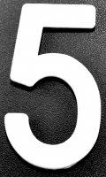 IMMAT MINI MOTO SCT 10 N°5 BLANC RILSAN5B