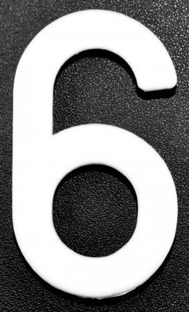 IMMAT MINI MOTO SCT 10 N°6 BLANC RILSAN6B