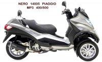 ECHAPPEMENT MAXI SCOOT NERO PIAGGIO MP3 400/500 SIL14005