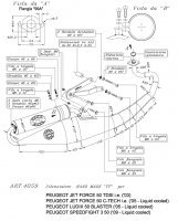 ECHAPPEMENT SCOOTER LEO TT LUDIX H2°+JETFORCE SIL4059