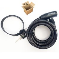 ANTIVOL SPIRALE 10 X 150mm RENTAL BIKE (CARTON 40 VRAC) AUVRAY SPRB150AUV10