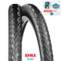 PNEU VELO DSI 26x1.75 (47-559) SRI-114 Full Black PUNCTURE PROTECTION 3.5mm SERPIENTE SRI114-26X175PP