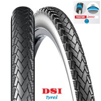 PNEU VELO DSI 700x35C (37-622) SRI-128 Full Black PUNCTURE PROTECTION 3mm CONNEJO SRI128-700X35PP