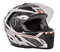 CASQUE INTEGRAL INT YM822 BLANC ROUGE S  TDH010RS